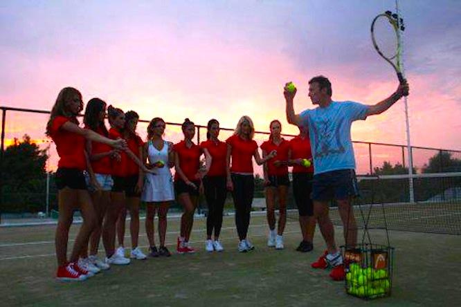 tennis mili split