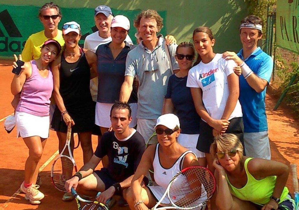 Mili Split coach with tennis in vacanza